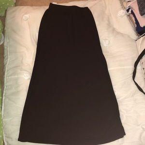 """Forever 21 black maxi skirt double slits-34"""""""